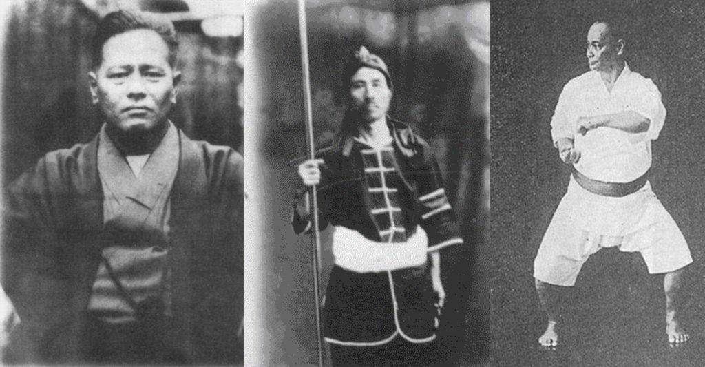 Chojun Miyagi, Kyoda Juhatsu and Choki Motobu